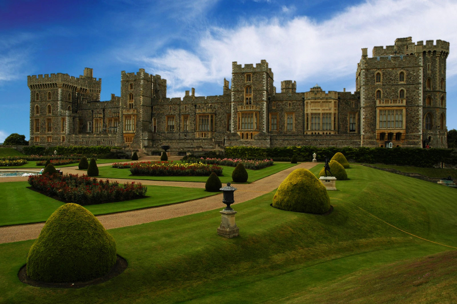 Windsor Castle, east side gardens and facade. Credit David Watterson