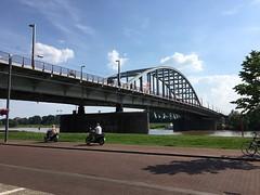 A bridge over the Rhine river in Arnhem