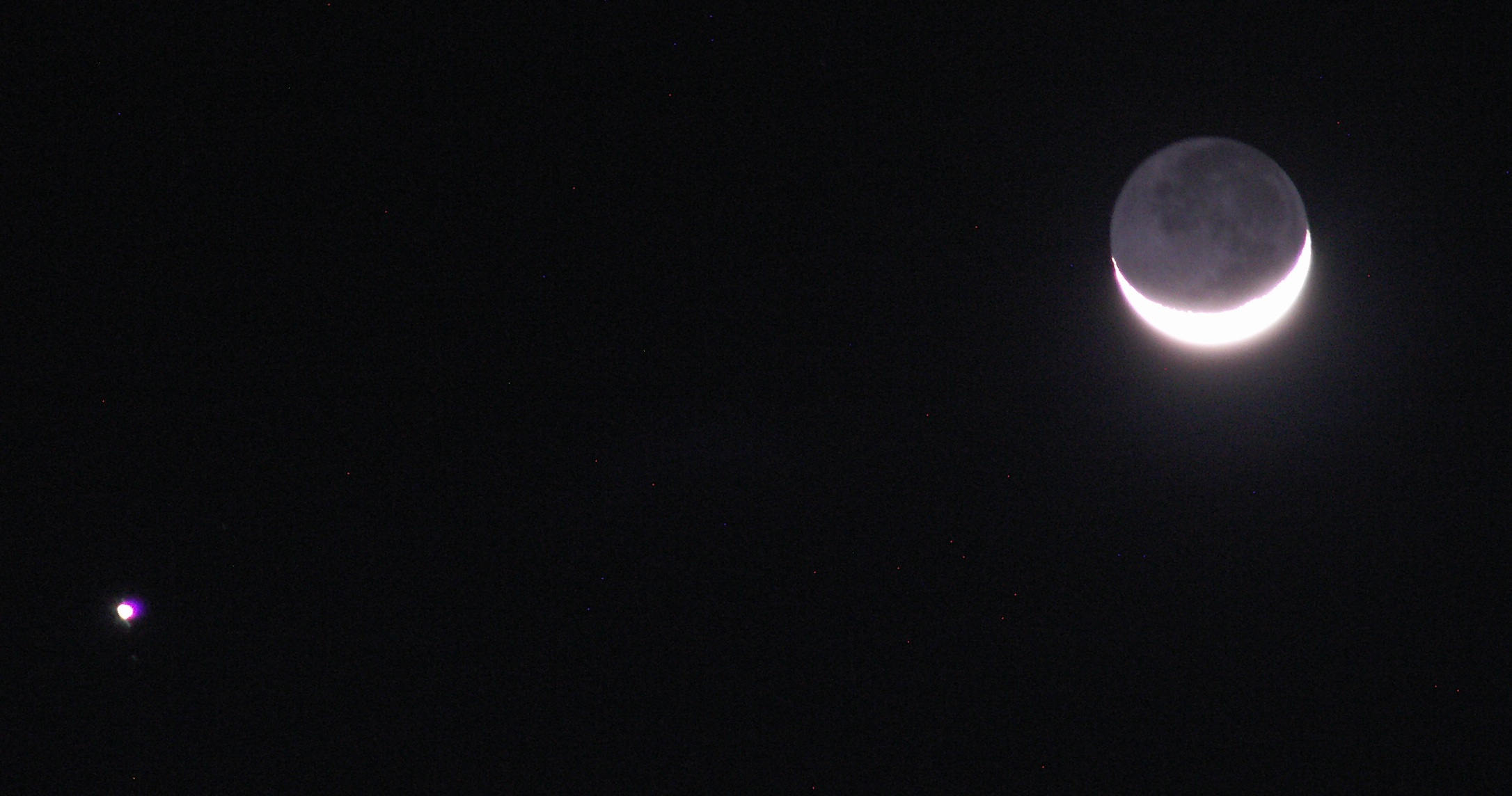 Moon and Jupiter | Jupiter and the Moon (with Earthshine ...