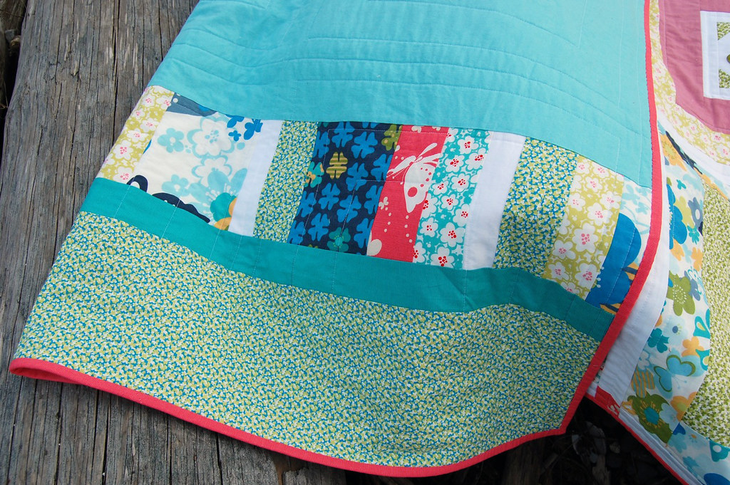 Just Wing It (Embroidery 101) Quilt -- Back