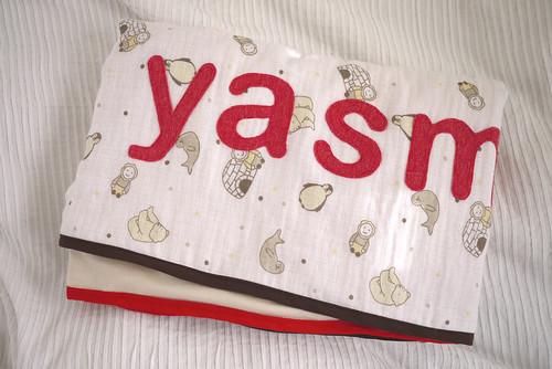 Muslin blanket folded