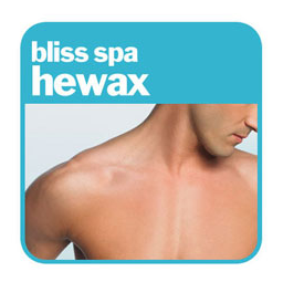 hewax add, showing a white man with a hairless chest