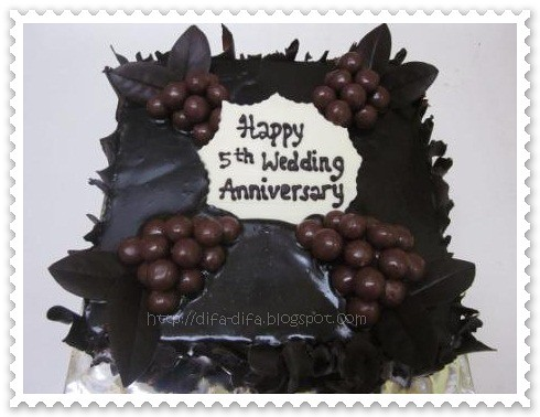 wed anniversary by DiFa Cakes