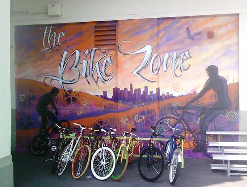 Nightingale Bike Rack on March 13, 2012