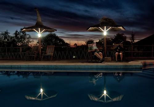 sunset people water pool lights luces agua gente piscina ocaso entrerios colon