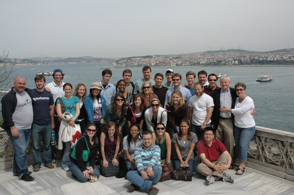 Washington and Lee Chamber Singers at Topkapi Palace in Istanbul, Turkey