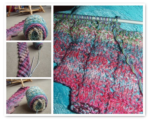 Scrappy Knitting in progress