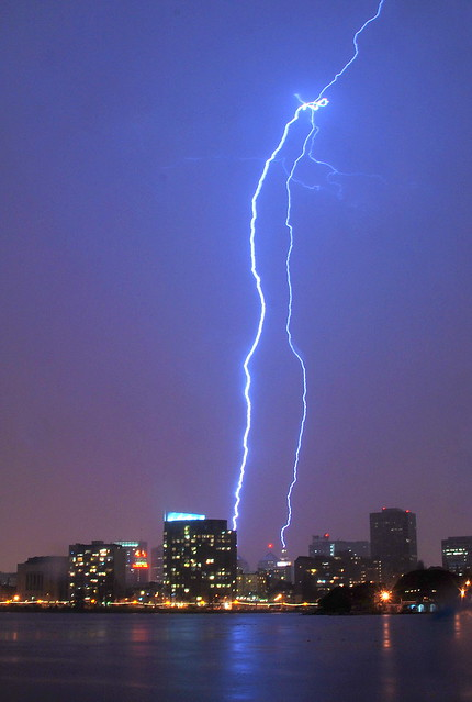 Lightning bolt, April 12, 2012, Oakland, California