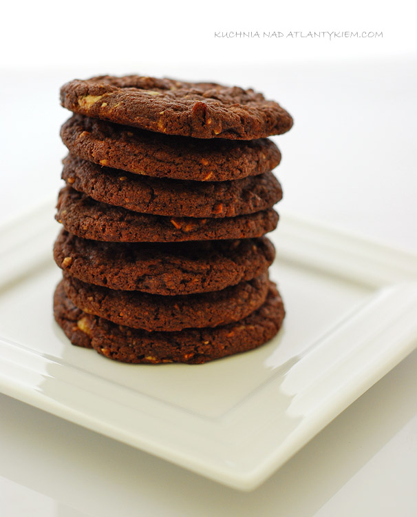 Double chocolate & cranberry cookies