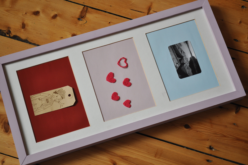diy painted photo frame art craft 1