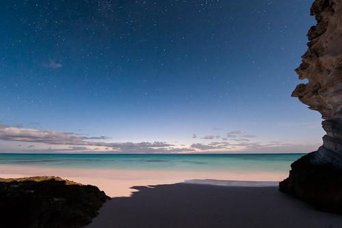 ocean morning sky beach water night clouds sunrise dark stars dawn sand caribbean bahamas eleuthera