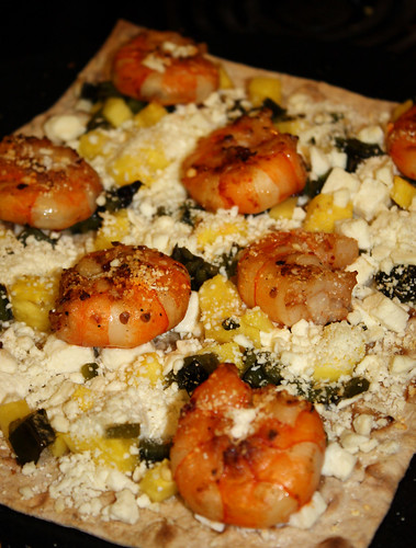 Chipotle Shrimp, Pineapple & Feta Flatbread