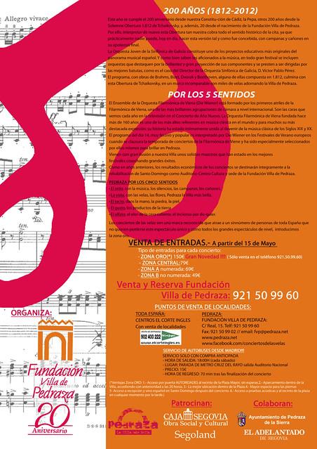 AVANCE XXI CONCIERTOS DE LAS VELAS 2012