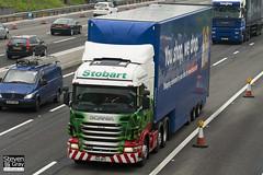 Scania R440 6x4 Tractor - PK11 WPX - Paris Rio - Green & Red - 2011 - Eddie Stobart - M1 J10 Luton - Steven Gray - IMG_4713