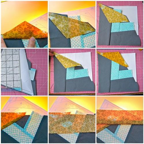 Paper Piecing Tutorial: Piecing, process mosaic 1