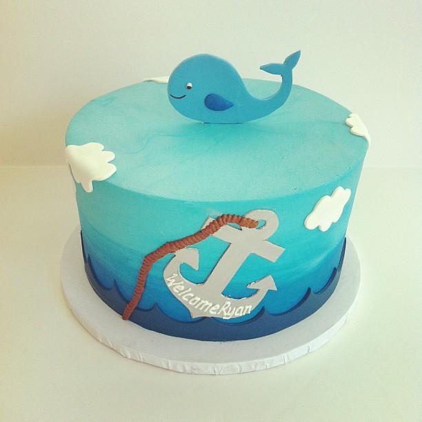 whale baby shower cake customcake austin flickr photo sharing