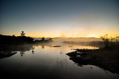 travel water fog sunrise geotagged nikon burma myanmar inlelake spa d90 kaungdaing pristinelotus