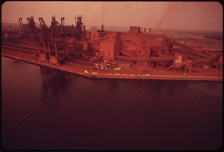 U.S. Steel Fairless Works On The Delaware River, August 1973