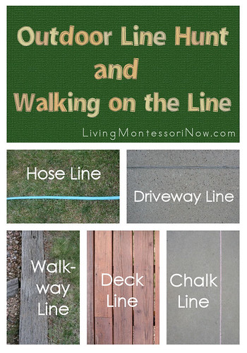 Outdoor Line Hunt and Walking on the Line