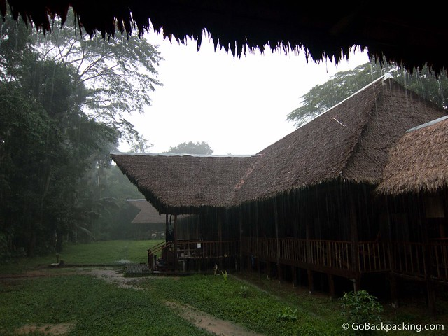 The Tambopata Research Center on a rainy morning