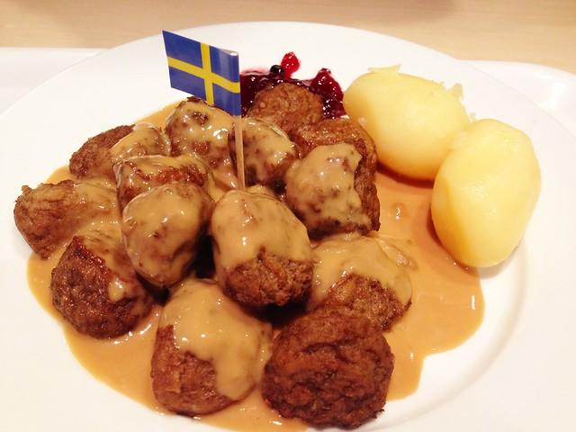 Swedish meatballs at IKEA :D