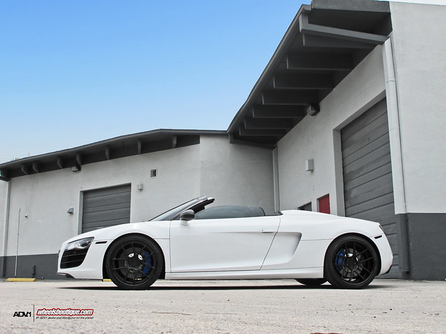 ADV5.0 Blacked out on Audi R8 Vert | Flickr - Photo Sharing!