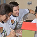 Building and painting birdhouses with children in Santa Fe