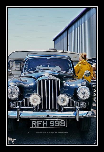 1956 Black Sunbeam : Classic Vehicle Spectacular Fathers Day : Ribble Steam Railway : Preston :