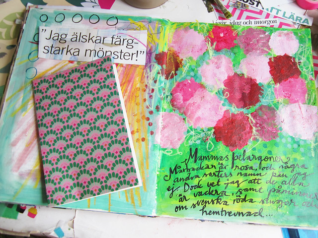 Geraniums Art Journaling