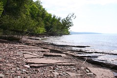 Lake Superior shoreline near proposed Copperwood Project