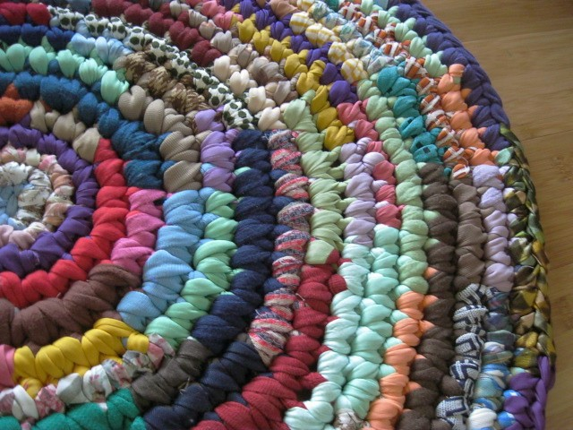 Hit and Miss Crochet Round Rag Rug Flickr - Photo Sharing!