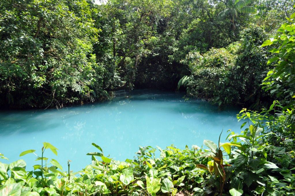 Lago Azul, uno de los puntos del recorrido donde el agua está más en calma. río celeste, colorido capricho de la naturaleza - 7538390534 d269f19101 o - Río Celeste, Colorido capricho de la Naturaleza