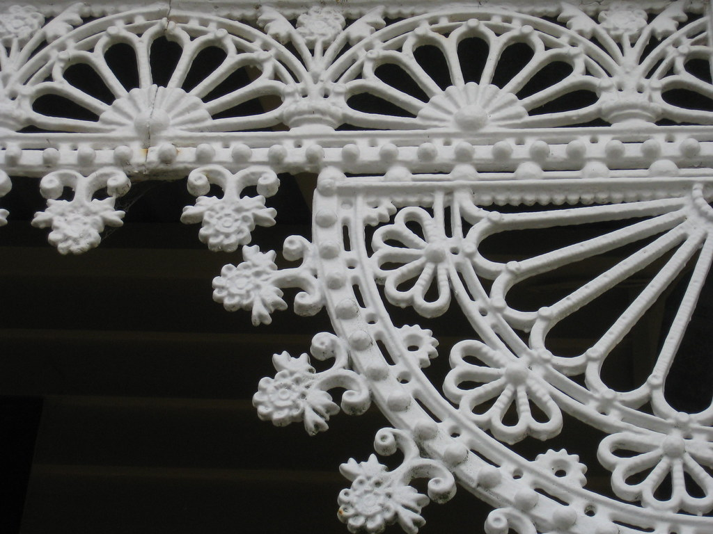 Cast Iron Lacework Detail on the Verandah of Hymettus Cottage - Ballarat