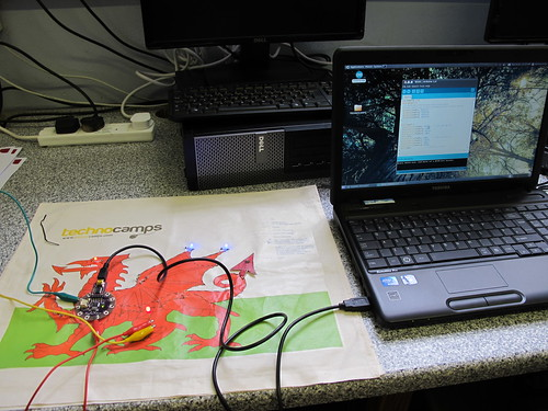 LilyPad Arduino class at Cardigan School