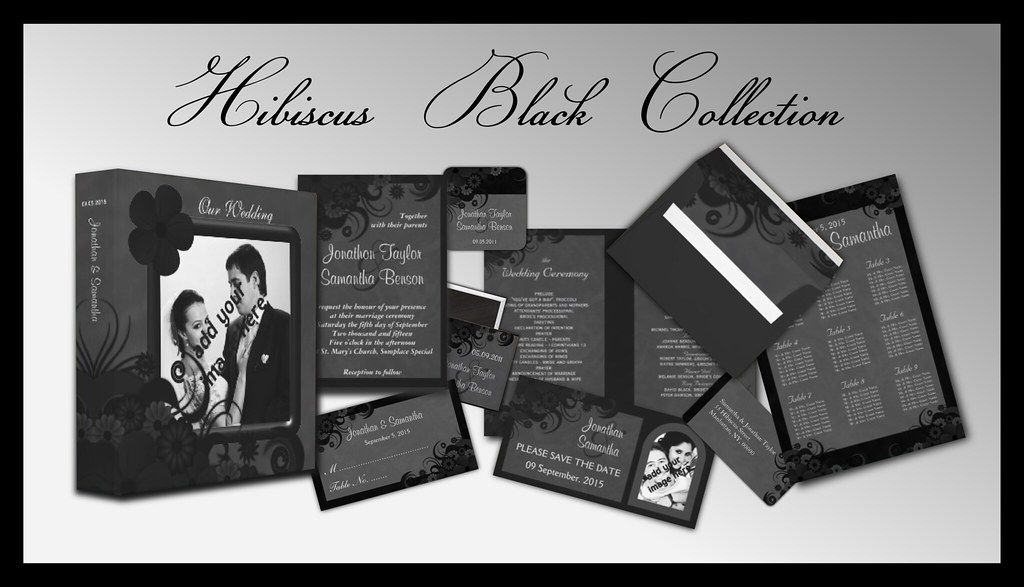 Gothic Black Floral Wedding Collection