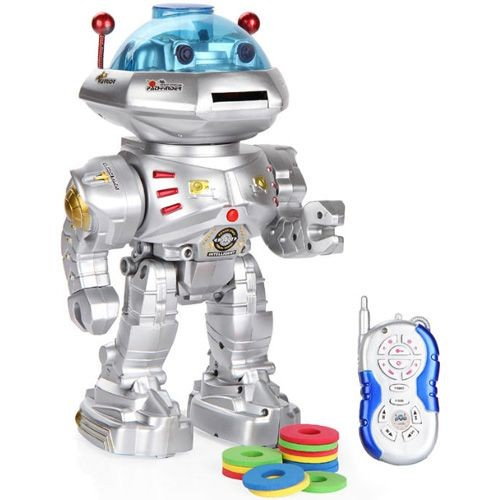 12 inch programmed disk shooting infrared rc robot toy wit
