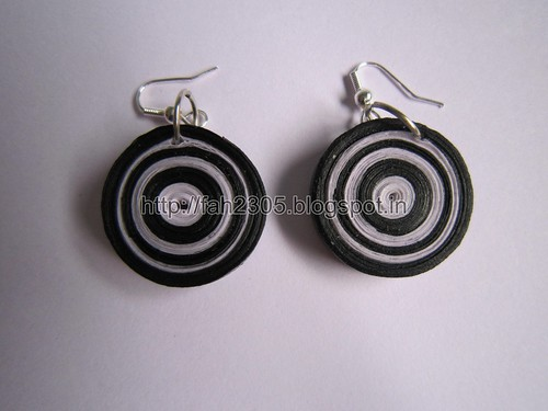Handmade Jewelry - Paper Quilling Disk  Earrings (1) by fah2305