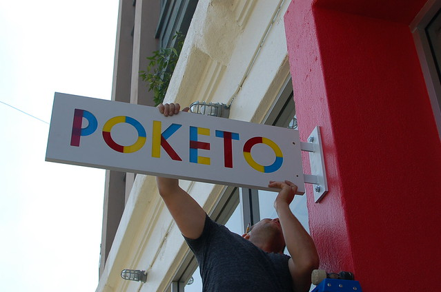 The Poketo Store Sign!