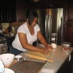 cinnamon roll prep