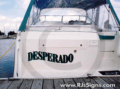 boat lettering and graphics