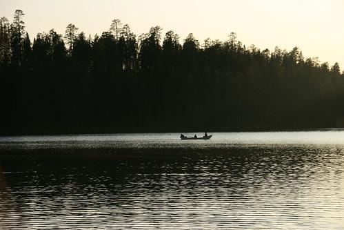 Anochece en Finlandia