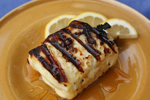 Grilled Halloumi with Lemon and Honey