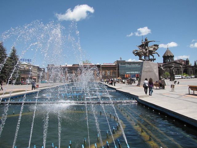 Main Square of Gyumri City