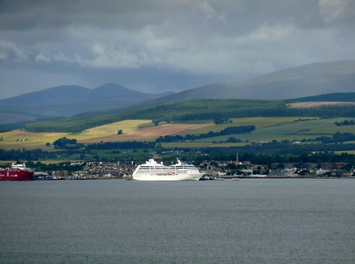 Cromarty Firth with Cruise Ship