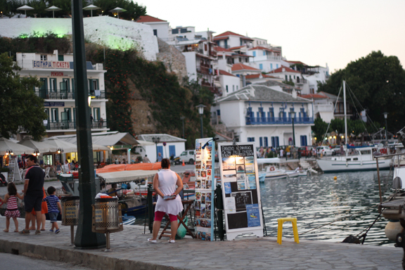 Skopelos, the old town, port