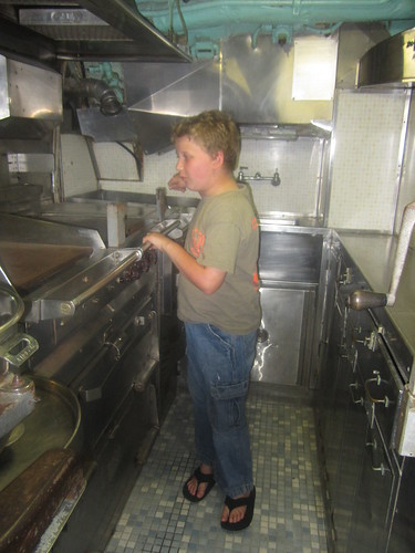 Robert, in the Kitchen of the USS Cavalla