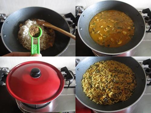 Chettinad Mushroom Biryani-step7