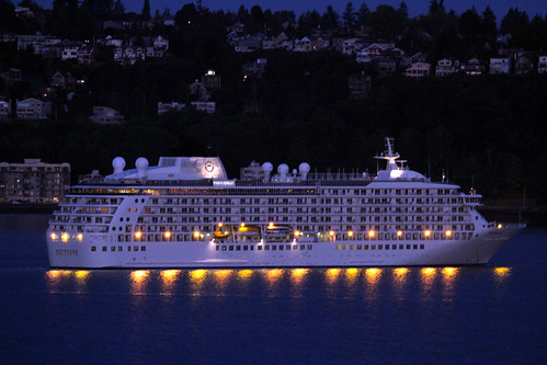 The World - Extraordinary Cruise Ship in Seattle by Miss Shari