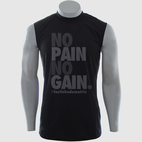 Camiseta - No pain No Gain by chambe.com.br
