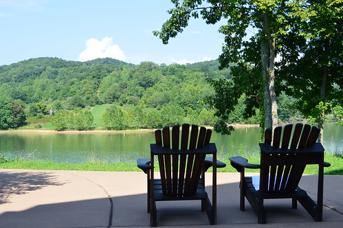 trees lake west water landscape virginia pond view chairs wildlife lounge hills shore
